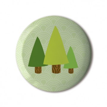 Gift Box: 4 button badges (Nature)