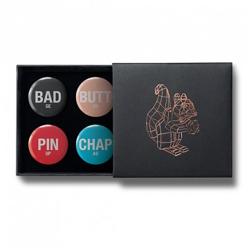 Gift Box: 4 button badges (BADges)