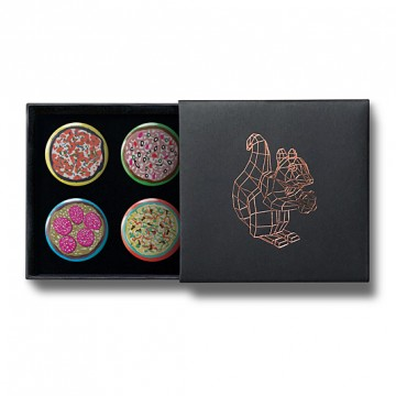 Gift Box: 4 button badges (Pizza)