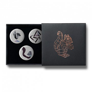 Gift Box: 3 button badges (Abstract Shapes)