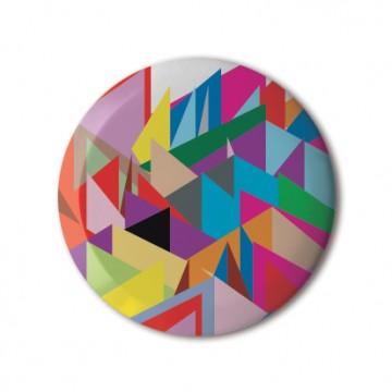 Gift Box: 4 button badges (Rainbow Patterns)