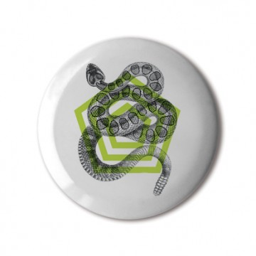 Gift Box: 4 button badges (Geometric Animals)