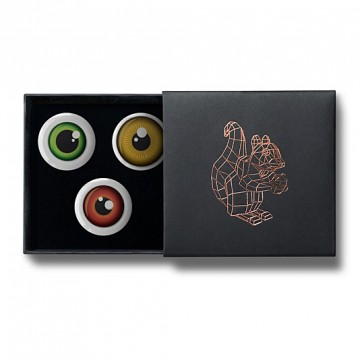 Gift Box: 3 button badges (Eyes)