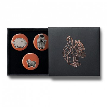 Gift Box: 3 button badges (Pig Shepherd)