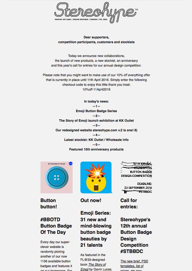 Stereohype Newsletter #6