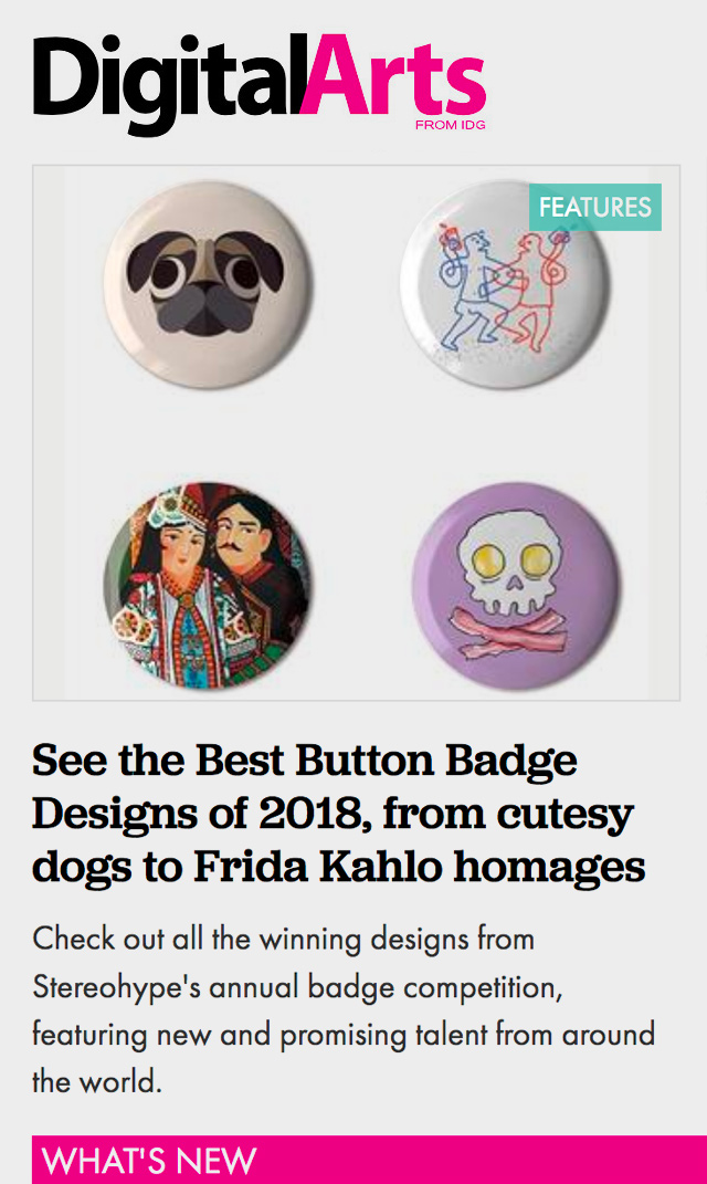 Digital Arts feature See the Best Button badge Designs of 2018