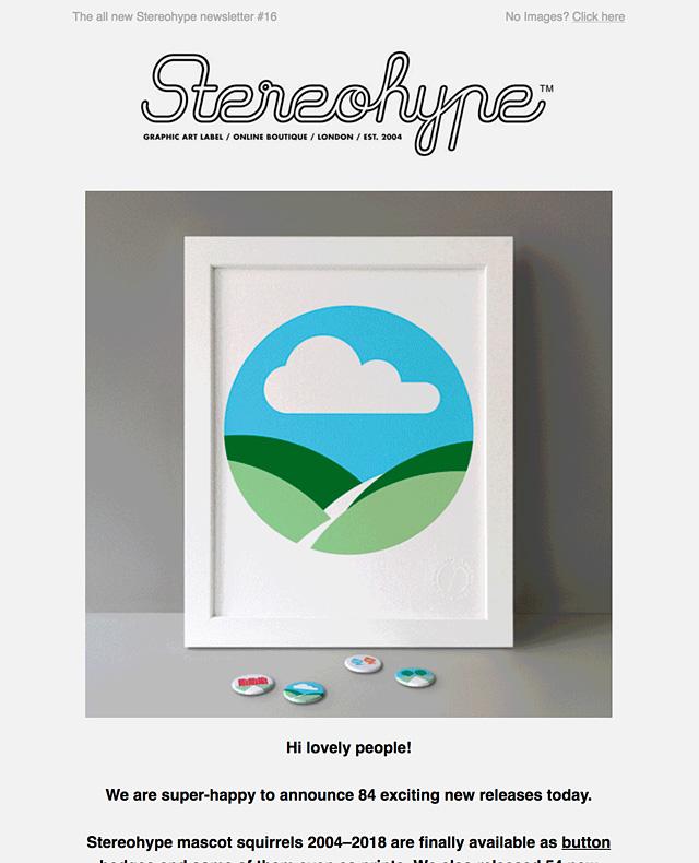 Stereohype Newsletter #16