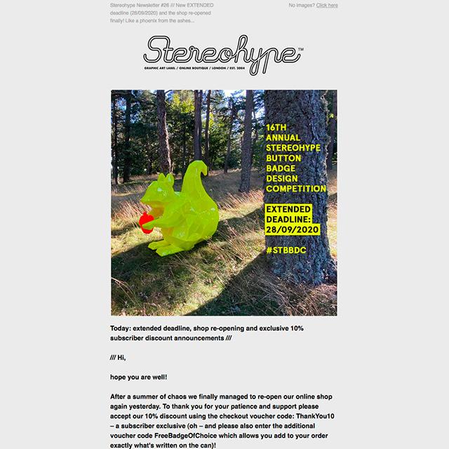 Stereohype Newsletter 26