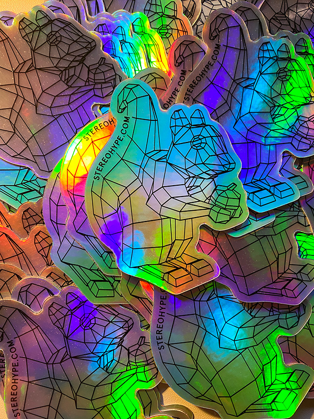 holographic Stereohype sticker