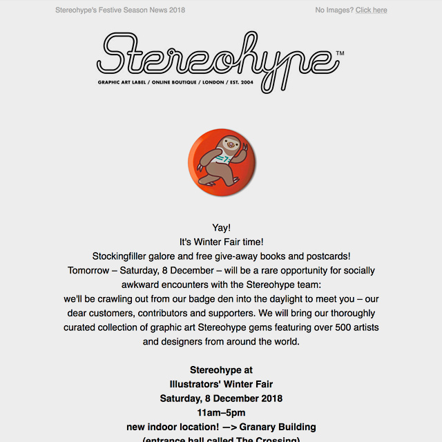 Stereohype Seasonal Newsflash 2018
