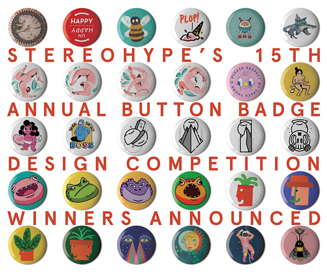 15TH ANNUAL BUTTON BADGE DESIGN COMPETITION (2019) #STBBDC