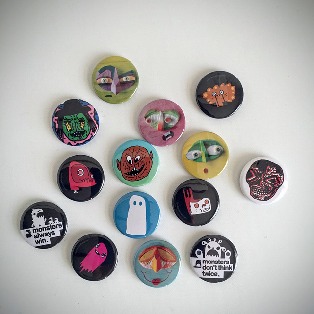 Shrink Ray – selection of Stereohype badges