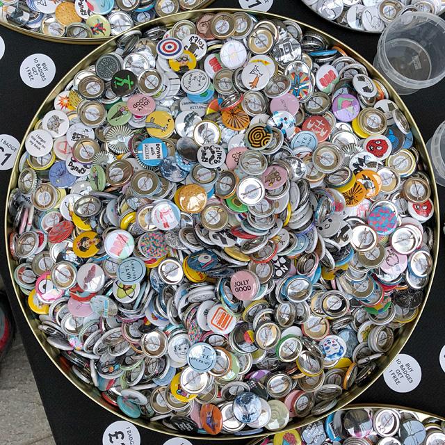Button Badge Display at Illustrators' Fair London